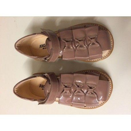 Angulus sandaler med sløjfer, rosa