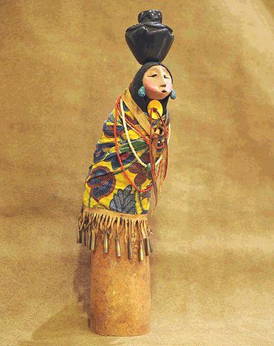 "*Gourd Art - ""Water Maiden"" by Robert Rivera"