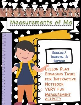 Students LOVE, LOVE, LOVE this lesson! They enjoy comparing measurements of themselves at the beginning of the year to the end of the year, as well as learning to measure in metric and English/imperial units in such a fun and engaging way. This lesson contains a lesson plan for