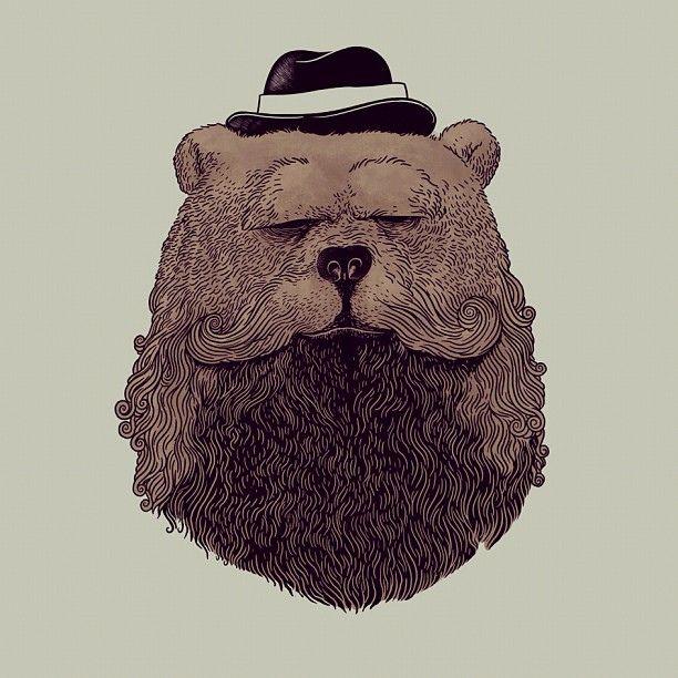 Grizzly Beard #alexmdc #oddworx #illustration by ALEX SOLIS, via Flickr