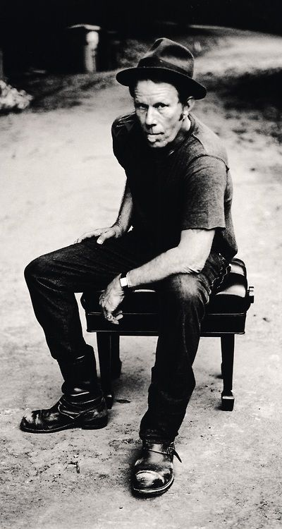 Tom Waits.                                  when i was younger, i wanted to be older. now i am older, i am not quite so sure. • tom waits • photo: anton corbijn