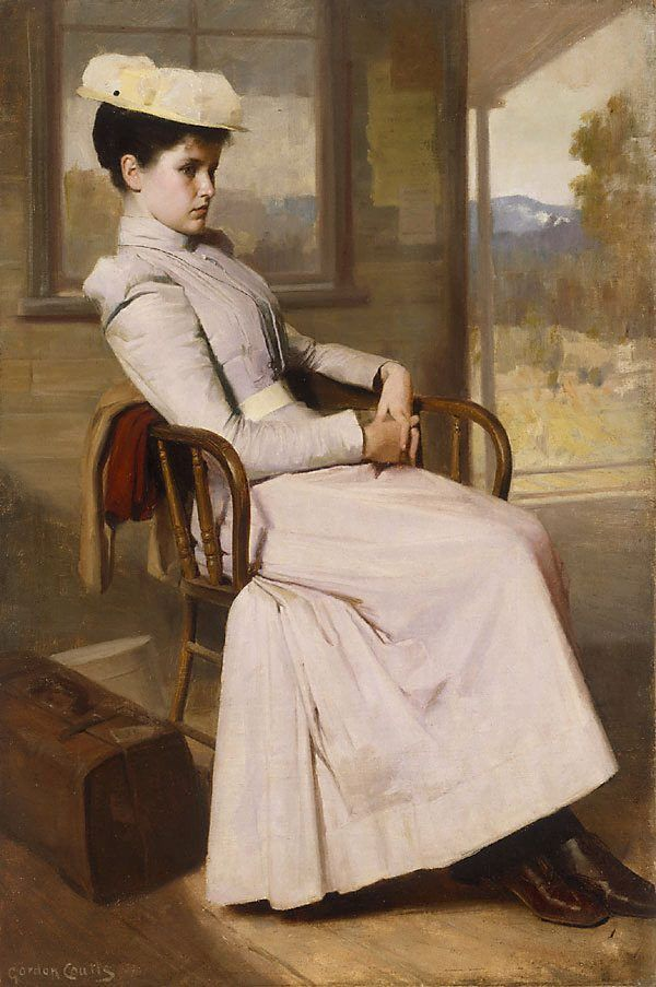 Waiting by Gordon Coutts circa 1895