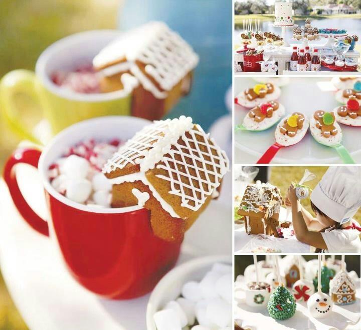 chrismas party Kids christmas treats, Gingerbread house