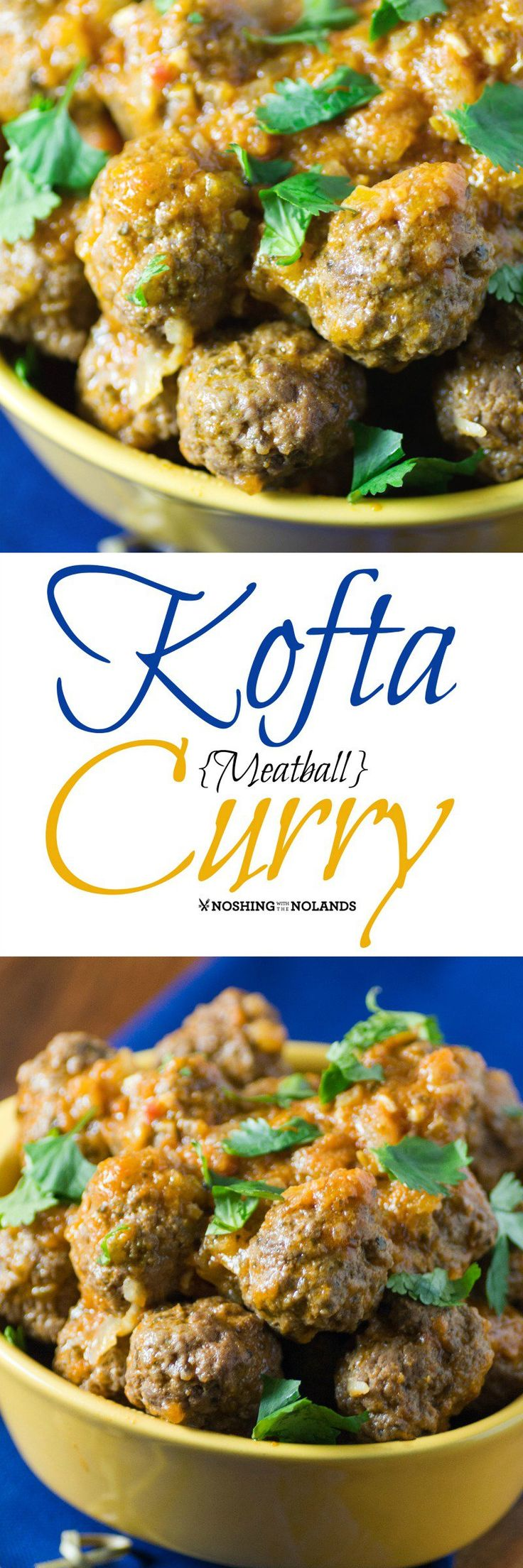 Kofta {Meatball} Curry from Noshing With The Nolands comes together nicely with it's enticing Indian spices! If you enjoy Indian cuisine you'll love the cookbook A Spicy Touch!