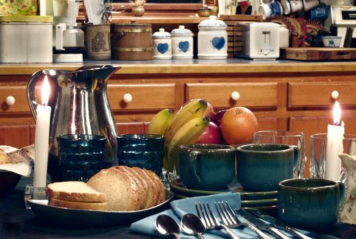 Breakfast | Grab a coffee mug and sit down for a delicious meal at the Stoney Lonesome Bed and Breakfast located in Crown Point, NY.