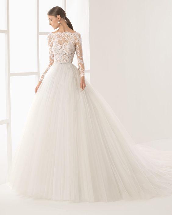 tendencias vestidos de novia ampones 2019, colección en vestidos de