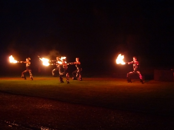 Flame Dancing Performance at Highclere Castle