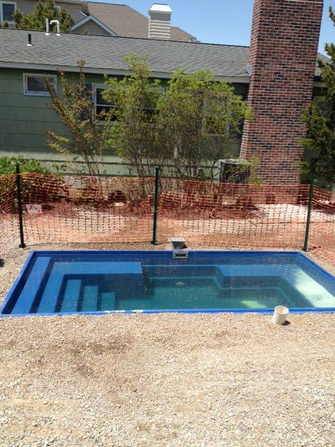 The palladium plunge pool installed and ready for electric - Is there sales tax on swimming pools ...