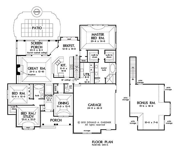 12 best house plans images on pinterest house floor for Becker study plan
