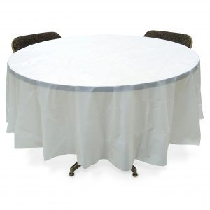 Round White Plastic Table Covers 84