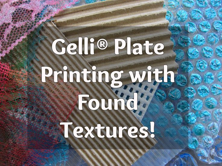 Video Tutorial! Gelli® Printing with DIY & Found Texture Tools ! Loaded with GREAT ideas for Gelli printing.