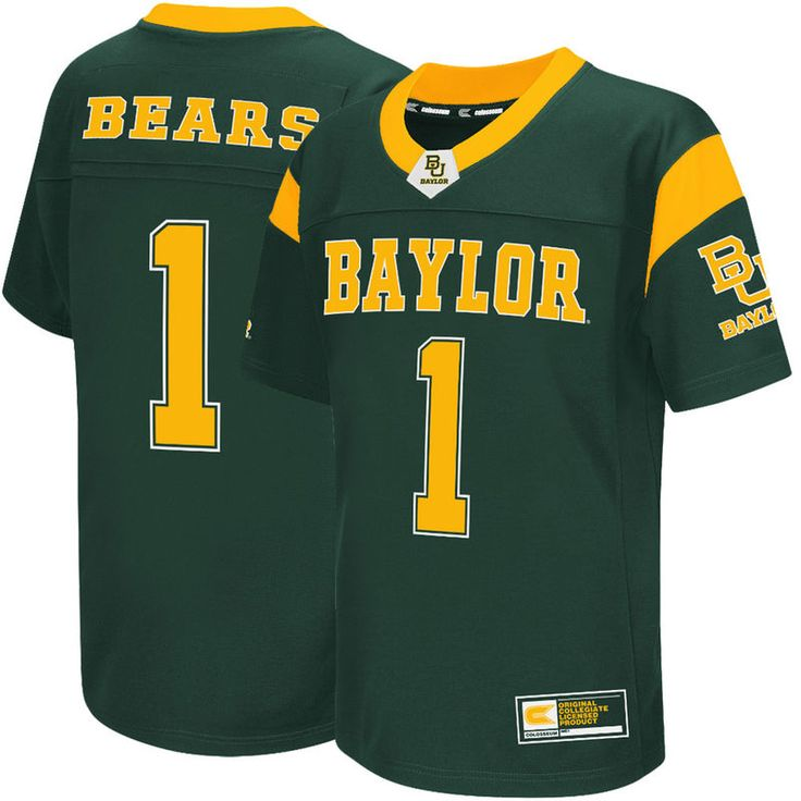 #1 Baylor Bears Colosseum Youth Football Jersey - Green