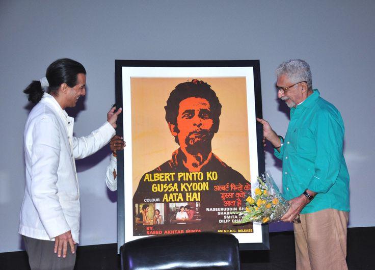 Neville Tuli and Naseeruddin Shah  at the Shyam Benegal Retrospective at Osianama at Liberty