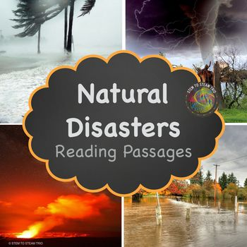 This resource contains five informational reading passages about natural disasters. It was made for the NGSS 3-ESS3-1 and 4-ESS3-2 Earth and Human Activity Standards. It covers the following natural disasters: Earthquakes Floods Hurricanes Tornadoes Volcanoes