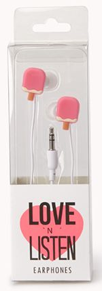 Christmas Stocking Stuffer Gifts for the Teen Girl:  Sweet Side Popsicle Earphones @ Forever 21
