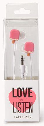 Christmas Stocking Stuffer Gifts for the Teen Girl:  Sweet Side Popsicle Earphones @ Forever 21
