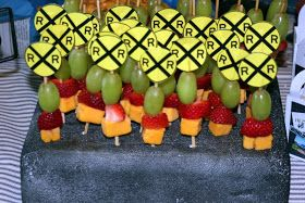 Greene Acres Hobby Farm: Train Birthday Party Snacks Part 2