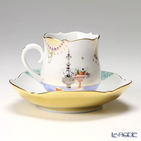 マイセン(Meissen) アラビアンナイト 680710/23582コーヒーカップ&ソーサー 150cc Motiv No.5