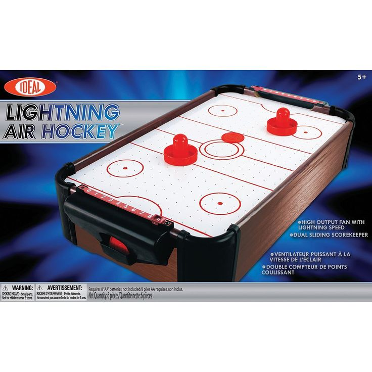 Ideal Lightning Portable Air Hockey Game, Multicolor