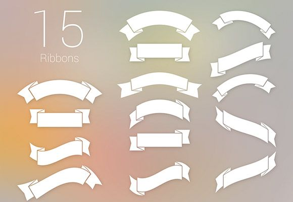 Here is a set of15 free PSD ribbons made up with Photoshop vector shapes. Free PSD created byIB.
