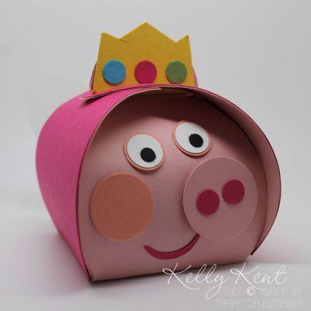 Peppa Pig Fairy Princess Punch Art - Curvy Keepsake Box. Kelly Kent - mypapercraftjourney.com