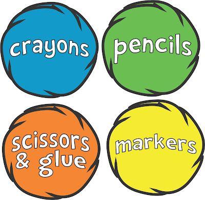 FREE Seuss printable art bin labels