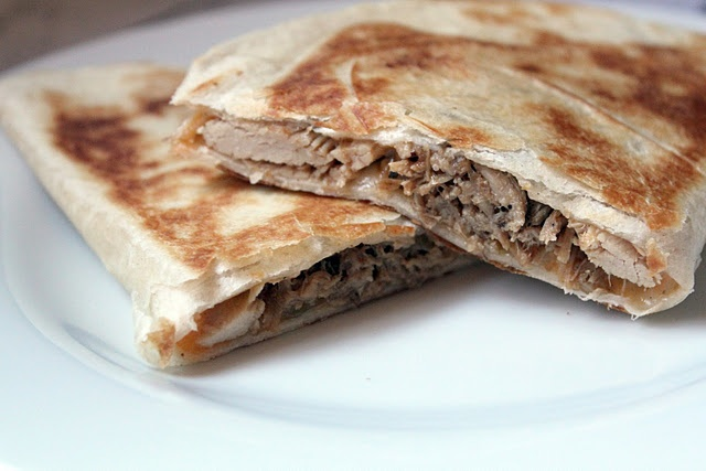 Smoked Chipotle Pulled Pork Quesadillas. Sounds so delicious!