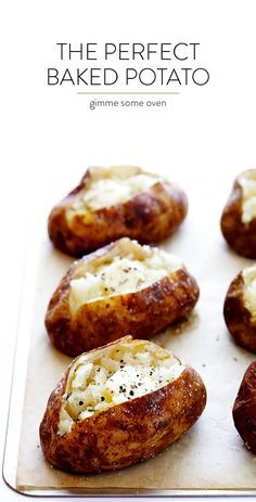The Perfect Baked Potato - What makes it perfect? Well, there's a secret trick involved, and it requires butter or oil... | Gimme Some Oven