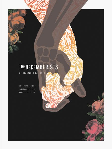 The Decemberists. Florafauna Posters Pt.1 by Paul Gardner, via Behance