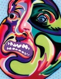 Howard Arkley -SECOND PSYCHEDELIC HEAD