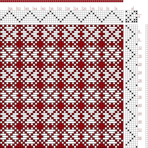 Hand Weaving Draft: Page 121, Figure 18, Donat, Franz Large Book of Textile Patterns, 6S, 6T - Handweaving.net Hand Weaving and Draft Archive - Point Draw