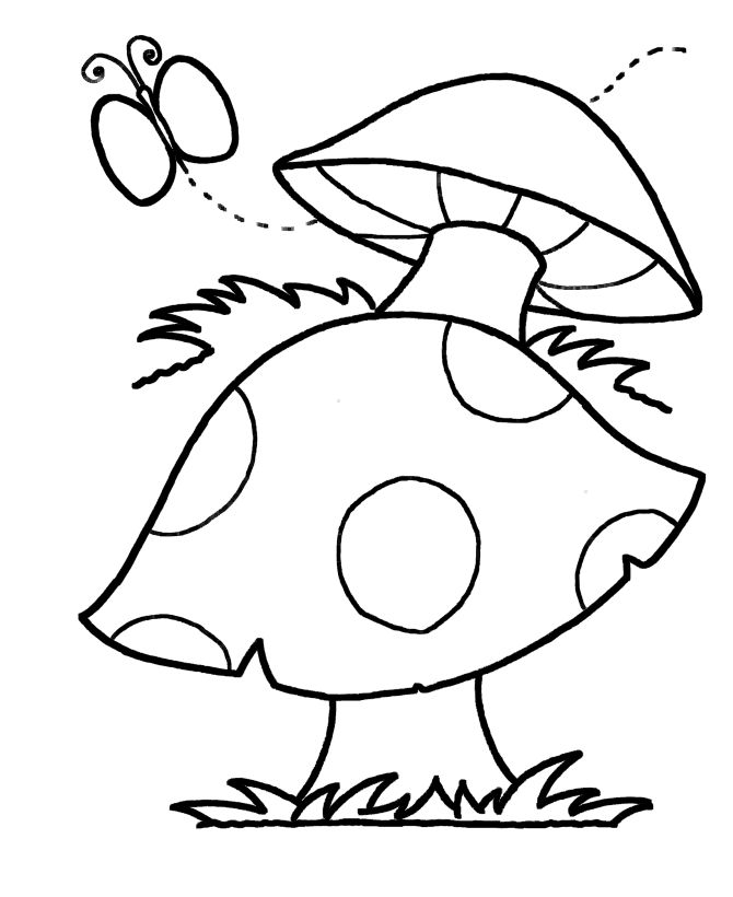 free printable mushroom patterns simple shapes coloring pages are a fun and creative activity that - Free Easy Coloring Pages