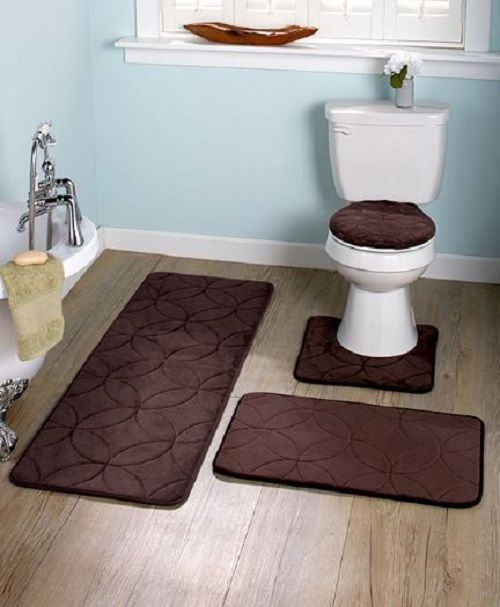 Bathmats Rugs and Toilet Covers 133696: Bathroom Rug Sets 3 Piece Memory Foam Bath Mat Toilet Seat Cover Tub Contour Lid -> BUY IT NOW ONLY: $34.99 on eBay!