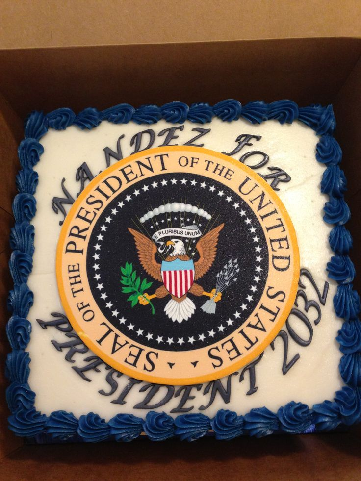 Presidential seal cake