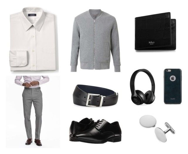 """""""Elgn"""" by ricardo-rodriguez-hernandez on Polyvore featuring Lands' End, Banana Republic, Witchery, Stacy Adams, Mulberry, Prada, Beats by Dr. Dre, Moshi, Blue Nile y men's fashion"""