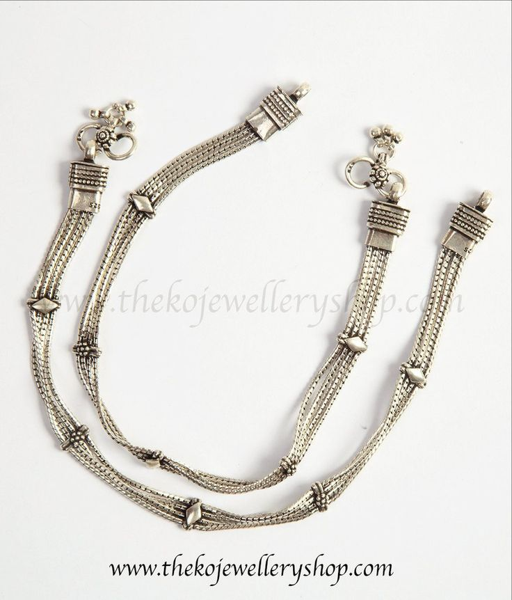 pure sterling silver anklets for women