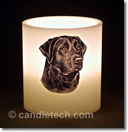 Step by step instructions for embedding photos or illustrations inside of candles.