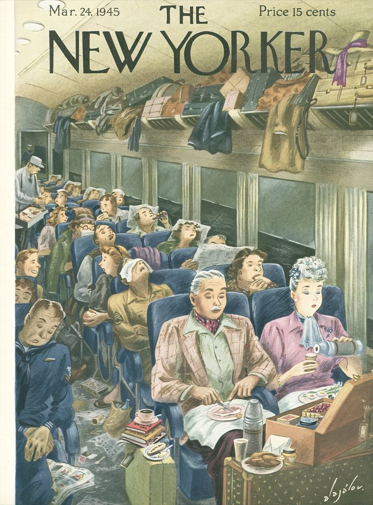 The New Yorker - Saturday, March 24, 1945 - Issue # 1049 - Vol. 21 - N° 6 - Cover by : Constantin Alajalov