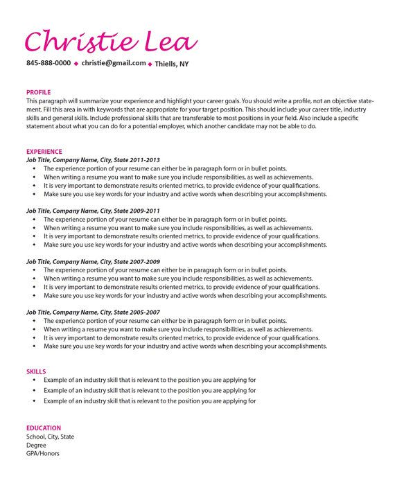 39 best Resume Writing and Design images on Pinterest Resume - active resume words