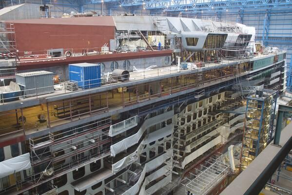 25 Best Images About Harmony Of The Seas Construction Updates On Pinterest