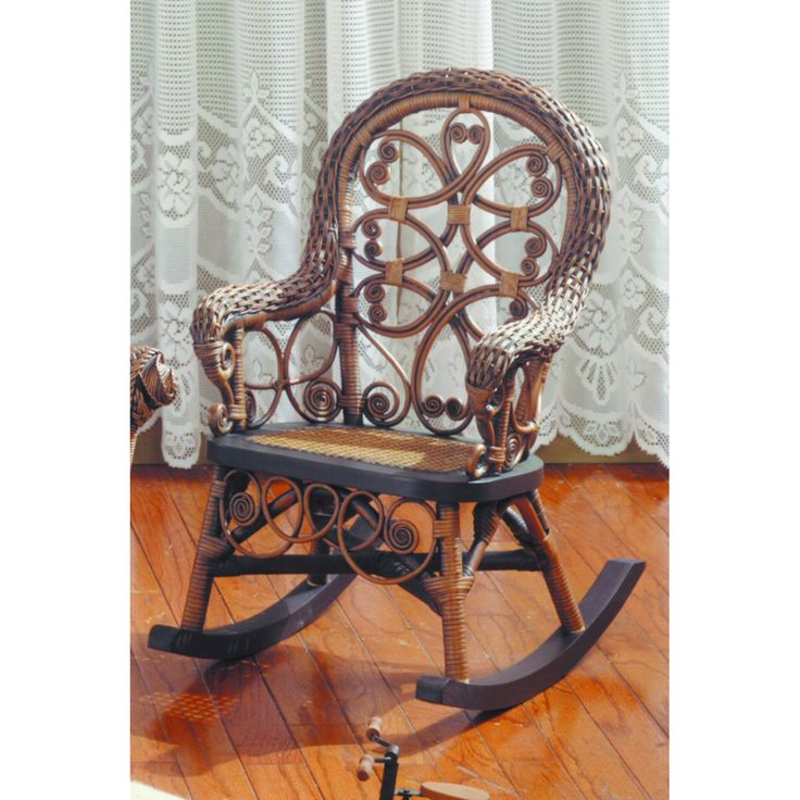 Victorian Wicker Childs Rocking Chair | from hayneedle.com