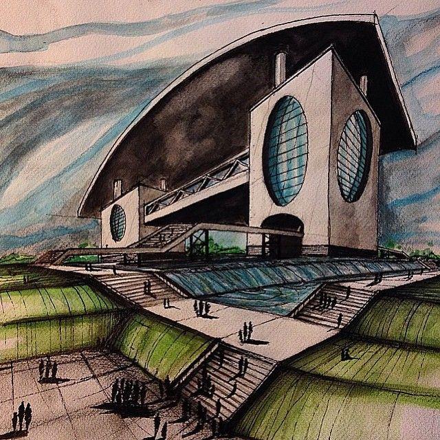 By @izy_design #sketch_arq #architecture #design #ideas #architecturestudent #アーキテクチャ #arquitectura #Architektur #sketch #instadaily #drawing #modern #art #modern #follow #architec #architecturesketch #architectureporn