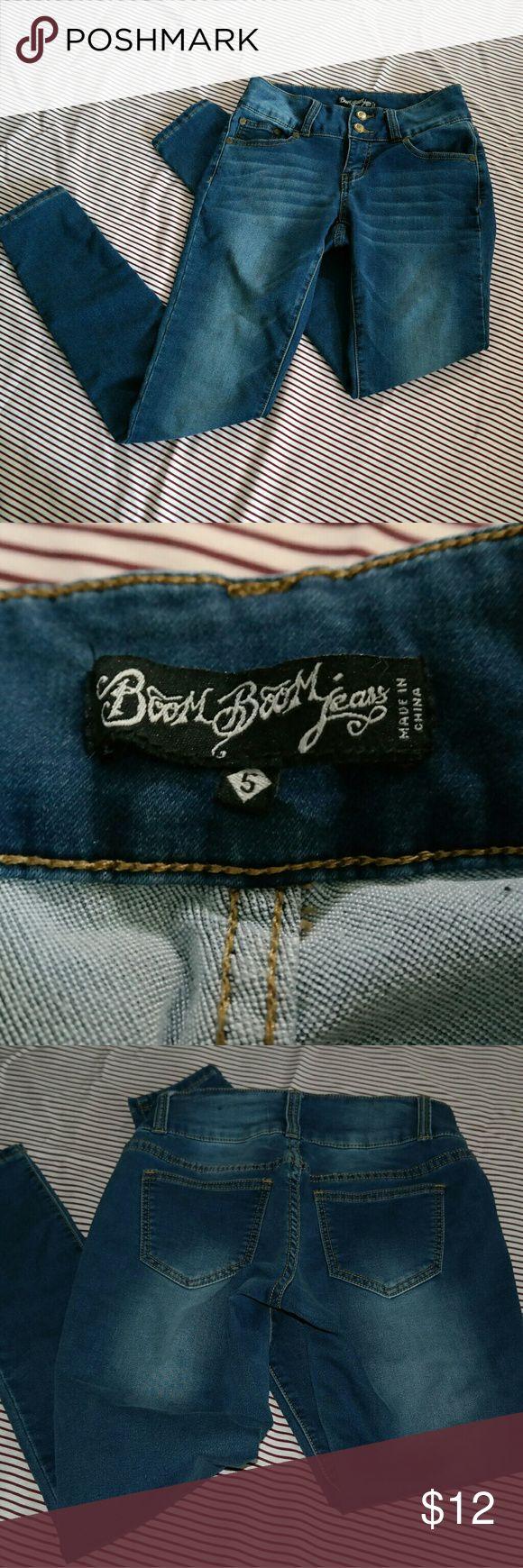 Boom Boom Jeans - Skinny, Curve Hugging Jeans Like new, mild wash skinny jeans. Boom Boom Jeans Jeans Skinny