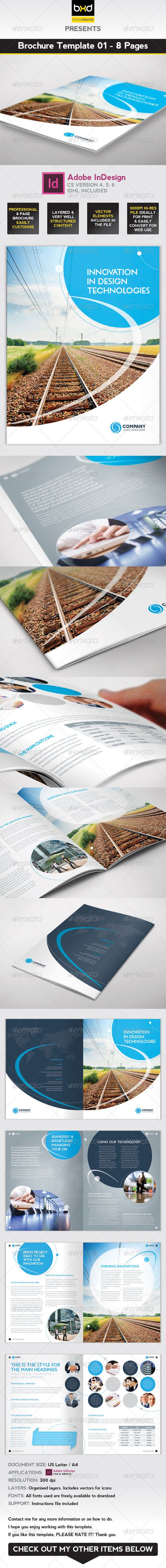 Brochure Template - InDesign 8 Page Layout 01