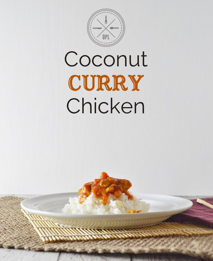 Coconut curry chicken - serve with cauliflower rice for #paleo -- delicious!!! This would be great in the crockpot. Make with soaked white rice or cauliflower rice.