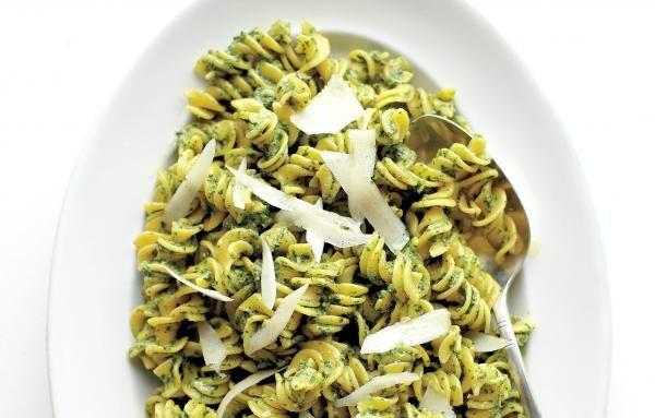 Spinach Pesto Fusilli Recipe | http://aol.it/1l6yps3 By @Martha Stewart Living