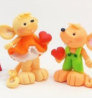 Lovely mouse couple - polimer clay tutorial // Egér szerelmespár gyurmából lépésről-lépésre // Mindy - craft tutorial collection // #crafts #DIY #craftTutorial #tutorial #Clay #ClayTutorials #ClayCrafts #Gyurmázás