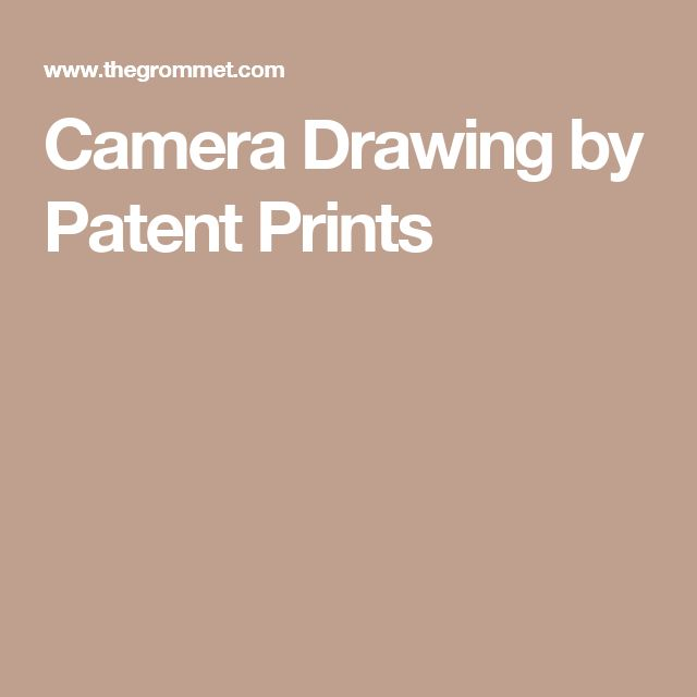 Camera Drawing by Patent Prints