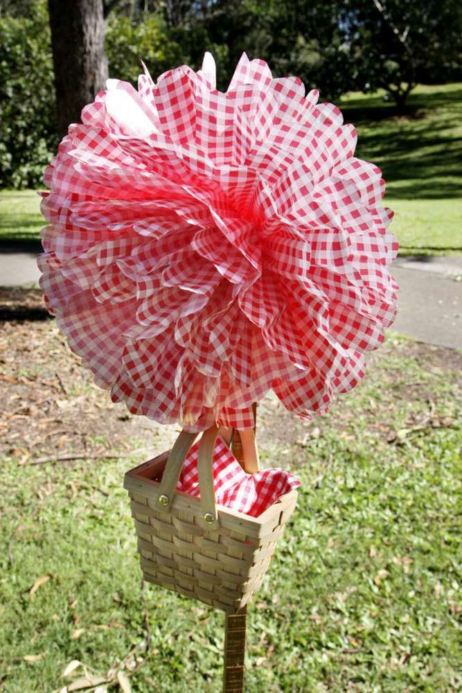 Picnic - Red & White Gingham Birthday Party Ideas | Photo 1 of 43 | Catch My Party