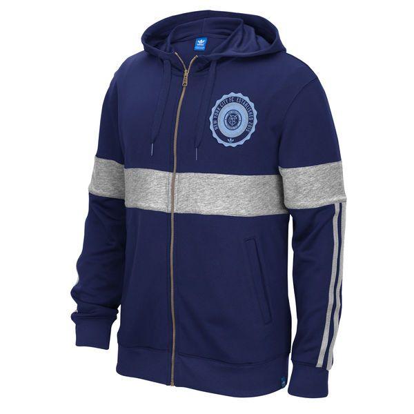 New York City FC adidas Originals Hooded Track Jacket - Navy - $47.99
